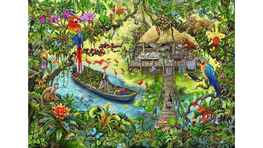 Ravensburger Puzzle EXIT Puzzle Kids Die Dschungelexpedition 368 Teile