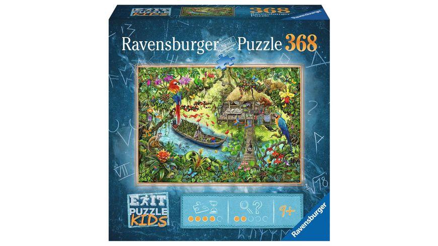 Ravensburger Puzzle - EXIT Puzzle Kids Die Dschungelexpedition, 368 Teile