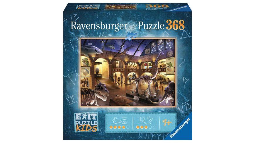Ravensburger Puzzle - EXIT Puzzle Kids Im Naturkundemuseum, 368 Teile