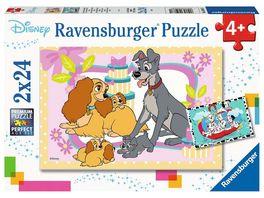 Ravensburger Puzzle Animal Friends Disneys liebste Welpen 2 x 24 Teile