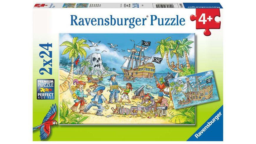 Ravensburger Puzzle - Die Abenteuerinsel, 2 x 24 Teile