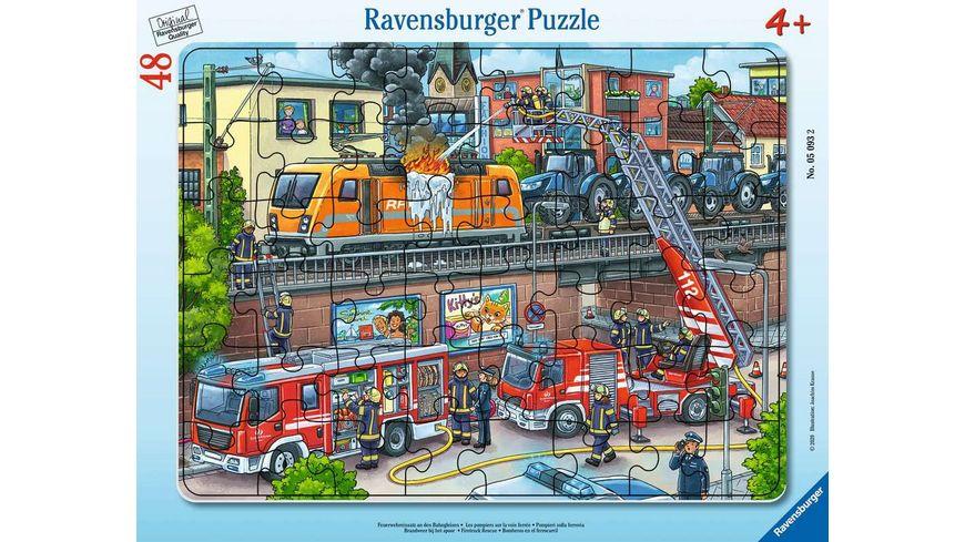 Ravensburger Puzzle - Feuerwehreinsatz an den Bahngleisen, 48 Teile