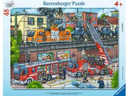 Ravensburger Puzzle Feuerwehreinsatz an den Bahngleisen 48 Teile