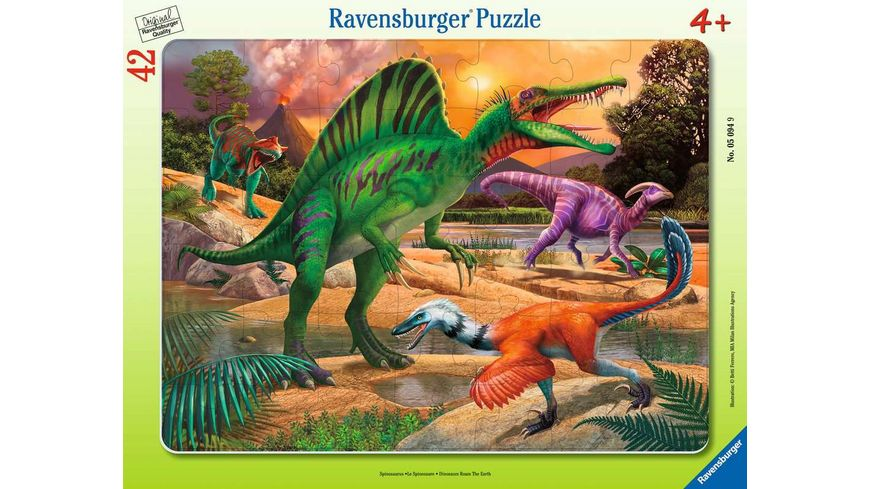 Ravensburger Puzzle - Spinosaurus, 42 Teile