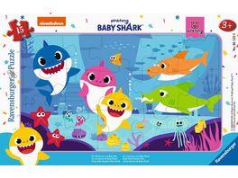 Ravensburger Puzzle Baby Shark Die Abenteuer von Baby Hai 15 Teile