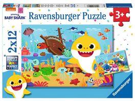 Ravensburger Puzzle Baby Shark Der kleine Baby Hai 2 x 12 Teile