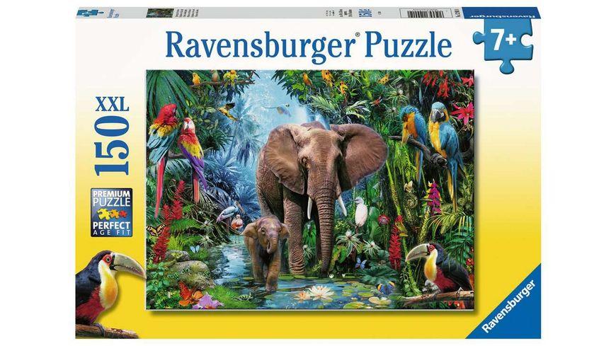 Ravensburger Puzzle - Dschungelelefanten, 150 XXL Teile