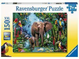Ravensburger Puzzle Dschungelelefanten 150 XXL Teile