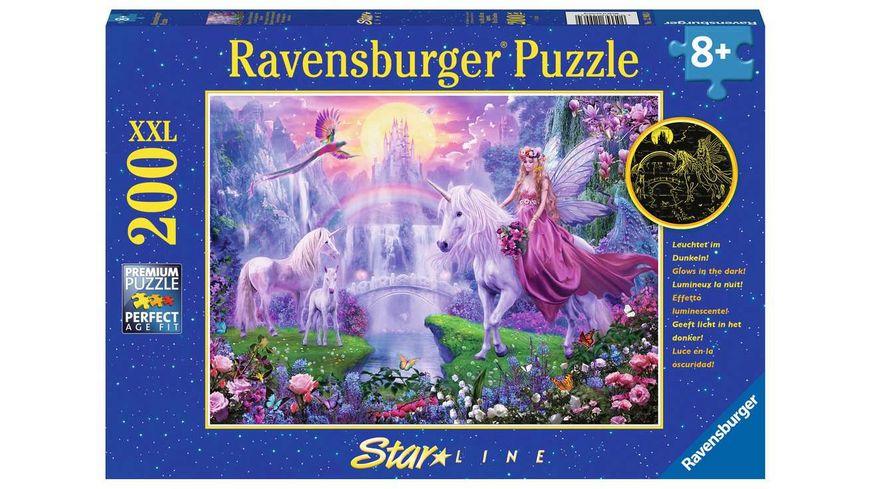 Ravensburger Puzzle - Magische Einhornnacht, 200 XXL-Teile