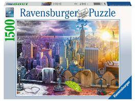 Ravensburger Puzzle New York im Winter und Sommer 1500 Teile