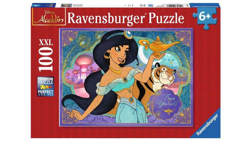 Ravensburger Puzzle - Disney Prinzessinnen, Zauberhafte Jasmin, 100 XXL Teile