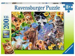 Ravensburger Puzzle Lustige Bauernhoftiere 200 XXL Teile