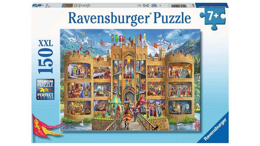 Ravensburger Puzzle - Blick in die Ritterburg, 150 XXL Teile