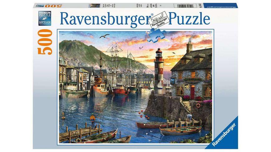 Ravensburger Puzzle - Morgens am Hafen - 500 Teile