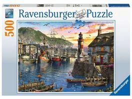 Ravensburger Puzzle Morgens am Hafen 500 Teile