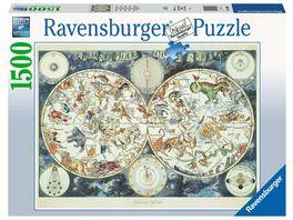 Ravensburger Puzzle Weltkarte mit fantastischen Tierwesen 1500 Teile