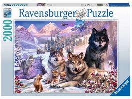 Ravensburger Puzzle Woelfe im Schnee 2000 Teile