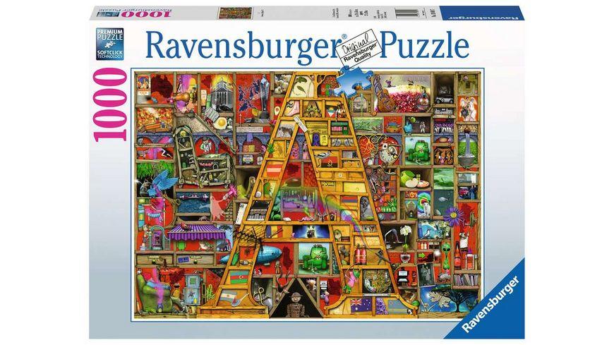 "Ravensburger Puzzle - Awesome Alphabet ""A"" - 1000 Teile"