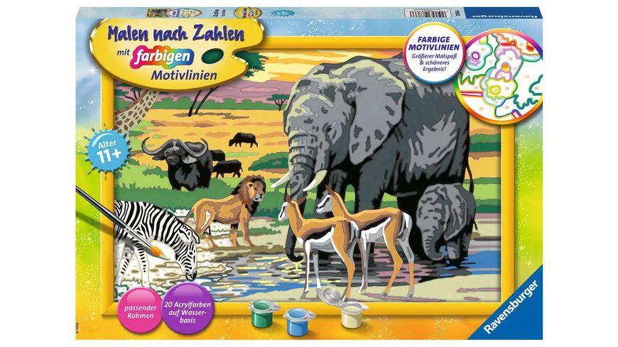 Ravensburger Beschäftigung - Malen nach Zahlen - Tiere in Afrika