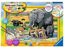 Ravensburger Beschaeftigung Malen nach Zahlen Tiere in Afrika