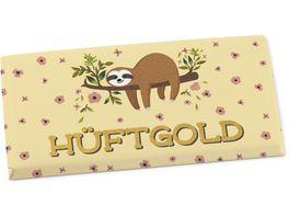 Geschenk fuer Dich Schokolade Hueftgold