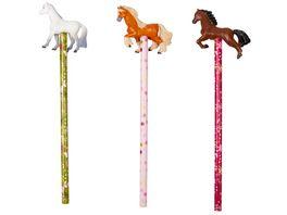 Die Spiegelburg Bleistift mit Topper Pferdefreunde