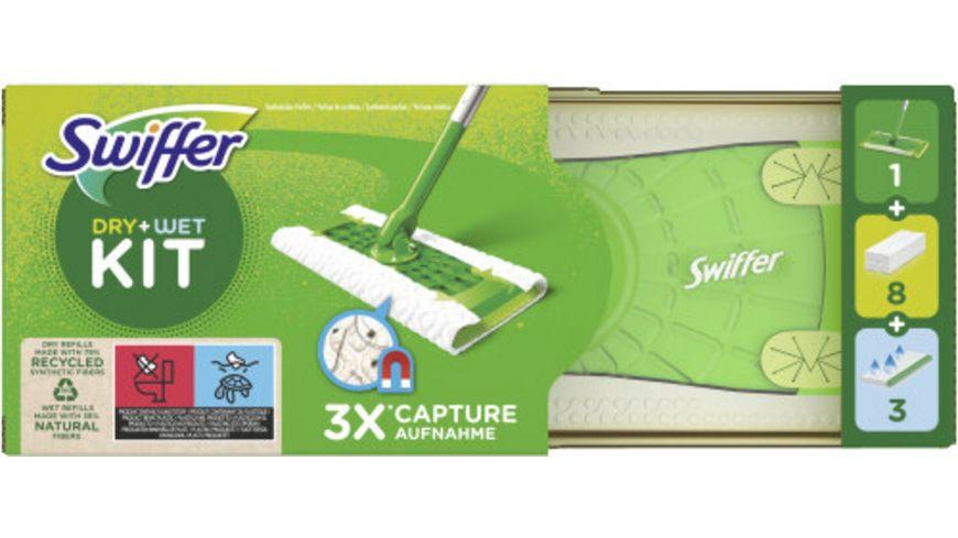 Swiffer Bodenwischer Starterset mit 1Bodenwischer 8Trockene Bodentuecher 3Feuchte Bodentuecher