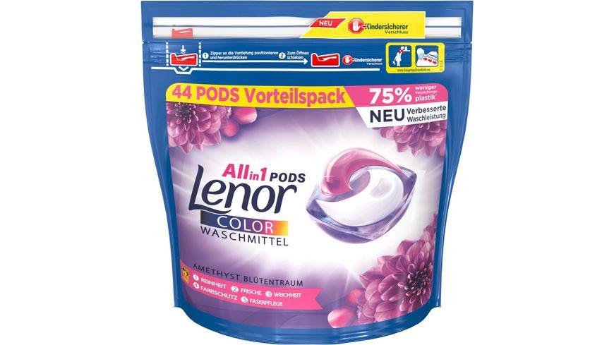 Lenor All in 1 Pods Amethyst Bluetentraum Colorwaschmittel