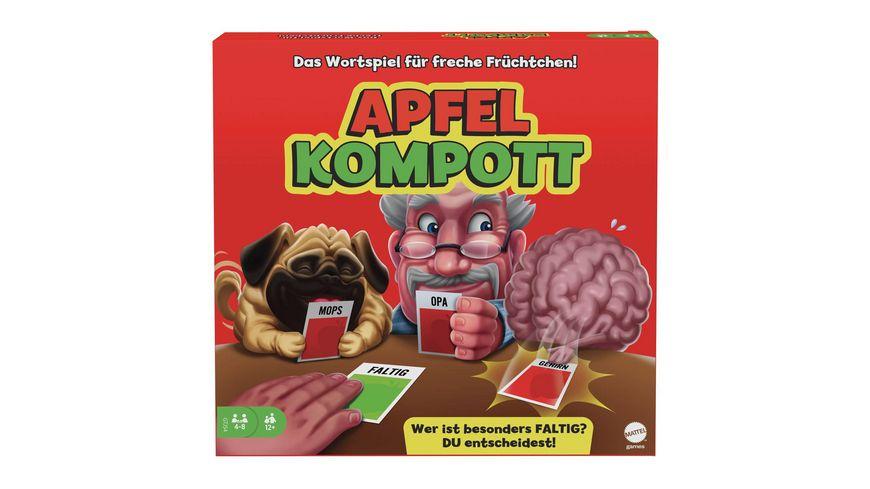 Mattel Games Apfelkompott, Kartenspiel, Familienspiel, Partyspiel