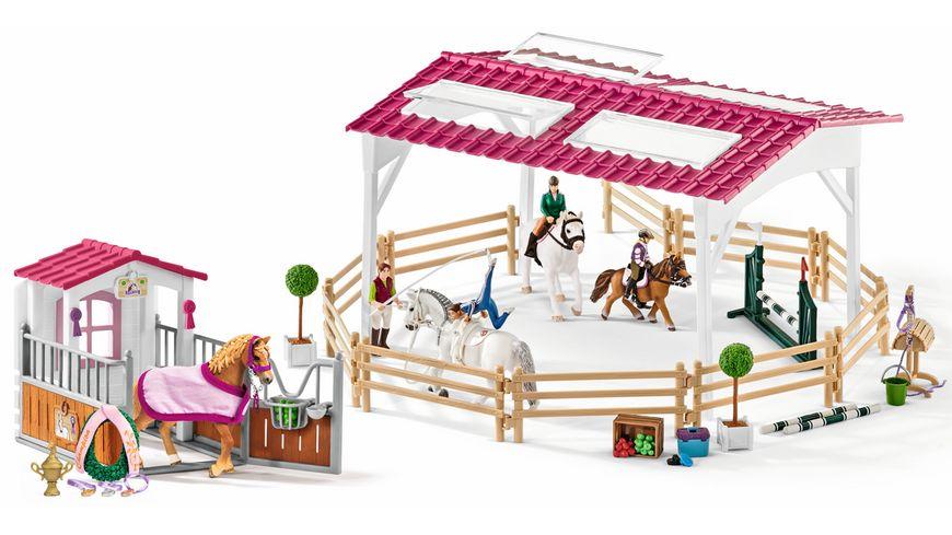 Schleich 72118 Reitschule mit Pferdebox und Zubehoer