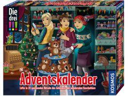 KOSMOS Die drei Adventskalender 2020 Loese 24 spannende Raetsel nachts im Spielzeugladen