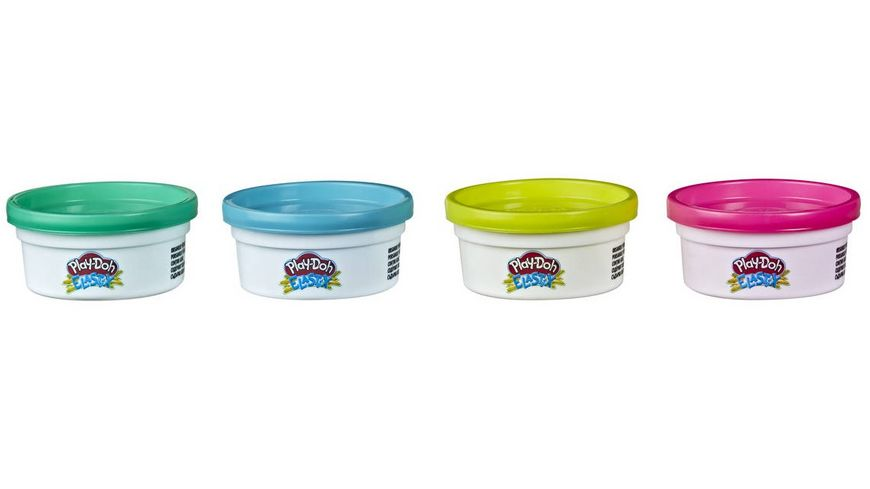Hasbro Play Doh Elastix Spielknete 4er Pack 1 Stueck sortiert