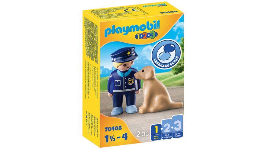 PLAYMOBIL 70408 - Polizist mit Hund