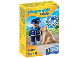 PLAYMOBIL 70408 Polizist mit Hund