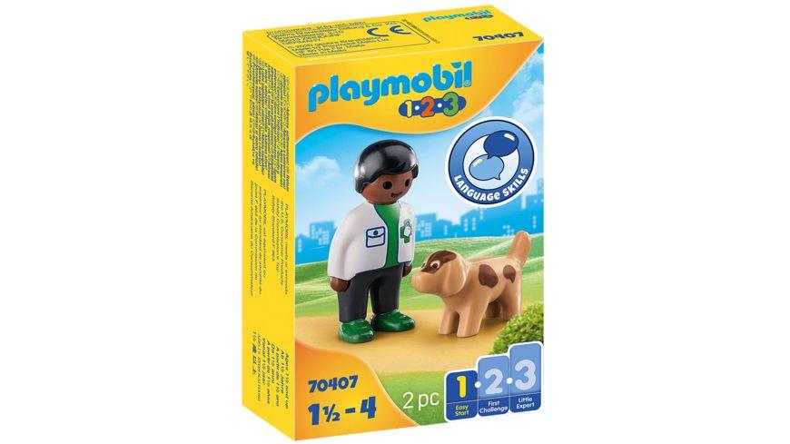 PLAYMOBIL 70407 - Tierarzt mit Hund