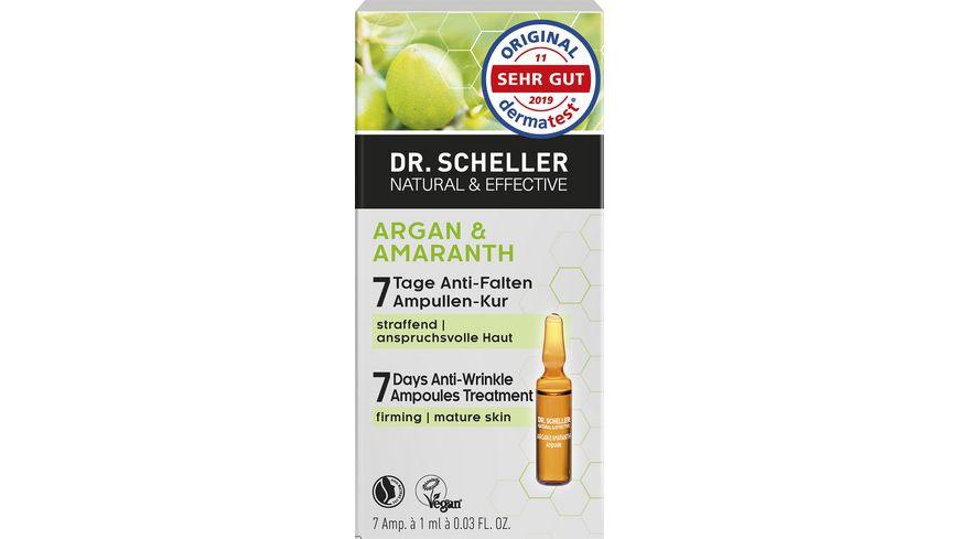 Dr. Scheller Argan & Amaranth 7 Tage Anti-Falten Ampullen Kur