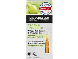 Dr Scheller Argan Amaranth 7 Tage Anti Falten Ampullen Kur
