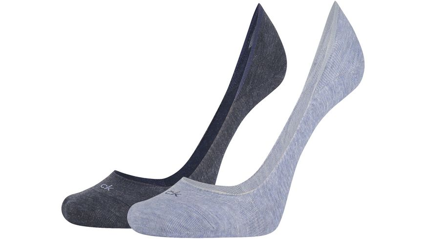 Calvin Klein Damen Füßlinge Liner Logo Hailey 2er Pack
