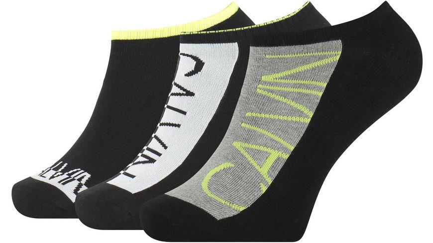Calvin Klein Herren Sneaker Socken No Show Jeans Athleisure Jasper 3er Pack