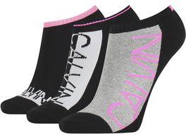 Calvin Klein Damen Socken No Show Jeans Athleisure Nola 3er Pack