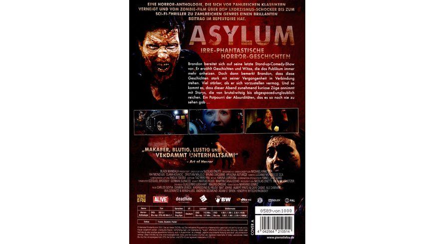 Asylum Irre phantastische Horror Geschichten Limited Edition Mediabook uncut DVD Cover A