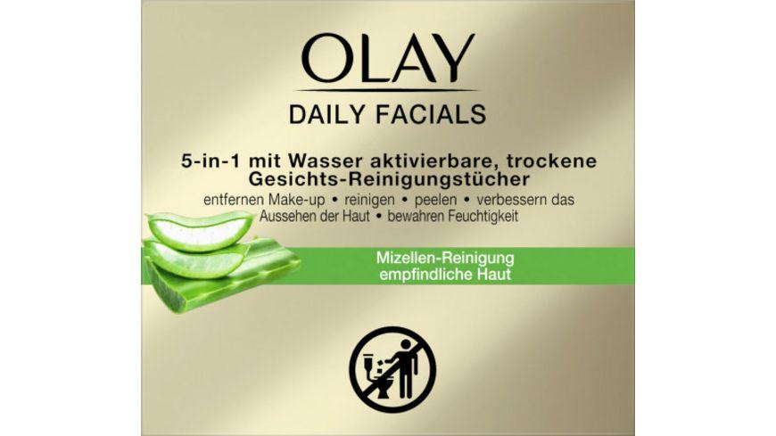 OLAY Daily Facials Reinigungstuecher fuer empfindliche Haut