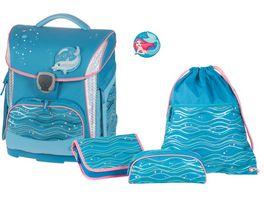 SCHNEIDERSToolbag Plus 4 teiliges Schulranzen Set Ocean Blue