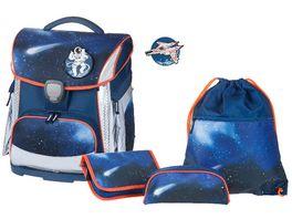 SCHNEIDERSToolbag Plus 4 teiliges Schulranzen Set Space Dark Blue
