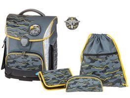 SCHNEIDERSToolbag Plus 4 teiliges Schulranzen Set Special Unit Grey