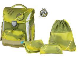 SCHNEIDERSToolbag Plus 4 teiliges Schulranzen Set Wild Olive