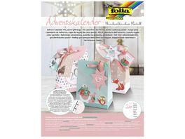 folia Adventskalender Set Geschenktaschen Pastell