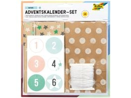 folia Adventskalender Set Papiertueten lebensmittelecht