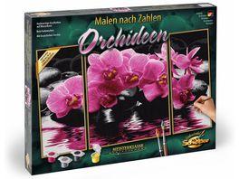 Schipper Malen nach Zahlen Motiv Gruppe Triptychon Orchideen Malen nach Zahlen