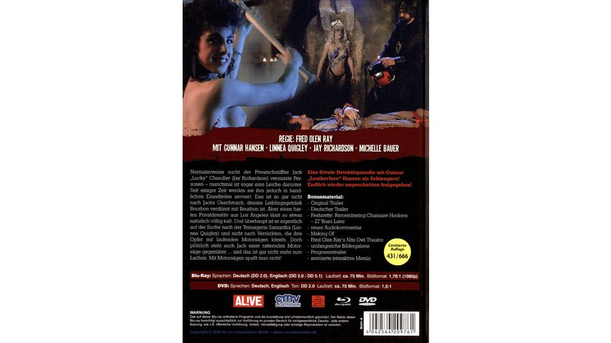 Hollywood Chainsaw Hookers Mediabook Cover A Lenticular Cover Limited Edition DVD